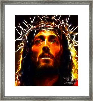 Jesus Christ The Savior Framed Print by Pamela Johnson