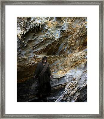 Jesus Christ- You Are My Hiding Place And My Shield Framed Print