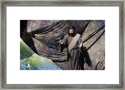 Jesus Commands The Sea Framed Print by Acropolis De Versailles
