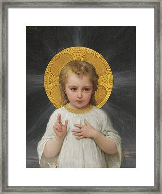 Jesus Framed Print by Emile Munier