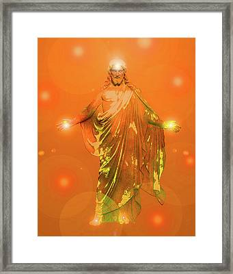 Jesus-energy No. 03 Framed Print by Ramon Labusch