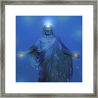 Jesus-energy No. 12 Framed Print by Ramon Labusch
