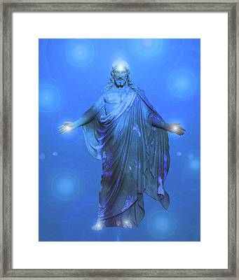 Jesus-energy No. 13 Framed Print by Ramon Labusch