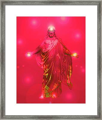 Jesus-energy No. 33 Framed Print