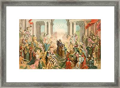 Jesus Entering Jerusalem Framed Print