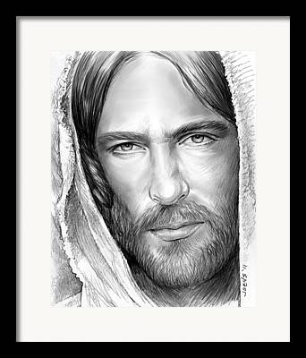 Savior Drawings Framed Prints