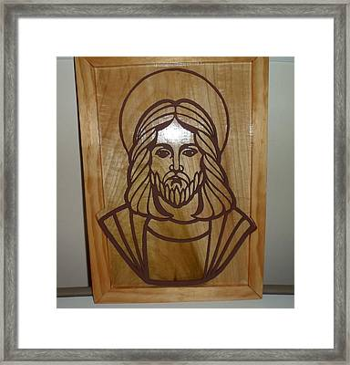 Jesus Frame Framed Print by M and D Magic Creations