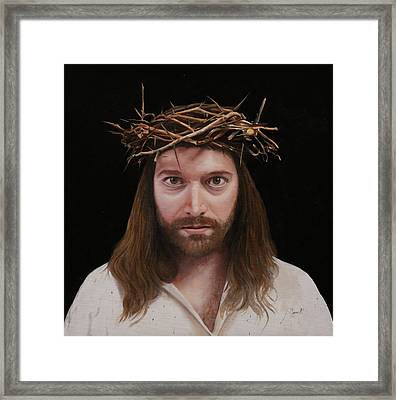 Jesus Framed Print by Guido Borelli