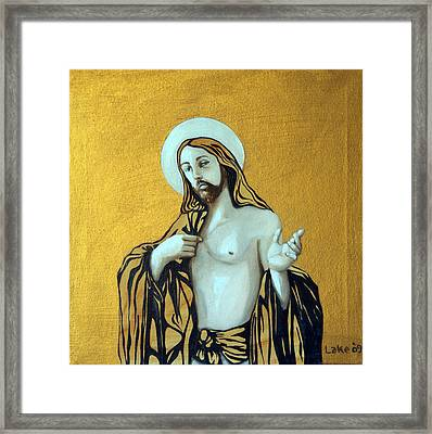 Jesus Icon Framed Print by Matthew Lake