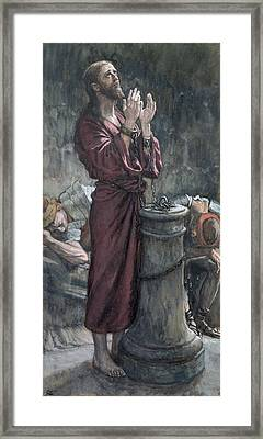 Jesus In Prison Framed Print by Tissot