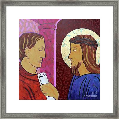 Jesus Is Condemned Framed Print