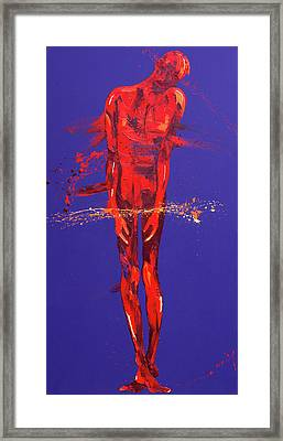 Jesus Is Condemned  Station 1 Framed Print by Penny Warden