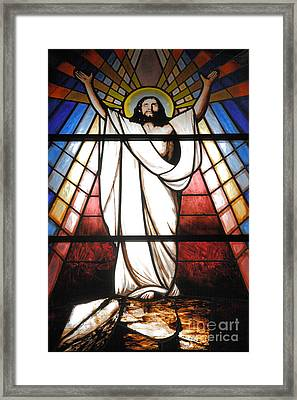 Jesus Is Our Savior Framed Print by Gaspar Avila
