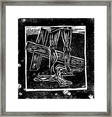 Jesus Is Stripped Of His Cloths Framed Print by Lars Lindgren