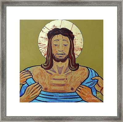 Jesus Is Stripped Framed Print