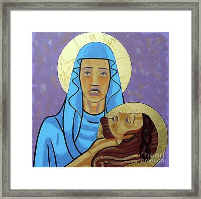 Jesus Is Taken Down From The Cross Framed Print