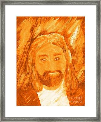 Jesus Is The Christ The Holy Messiah 3 Framed Print by Richard W Linford