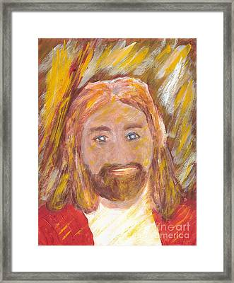 Jesus Is The Christ The Holy Messiah 5 Framed Print by Richard W Linford