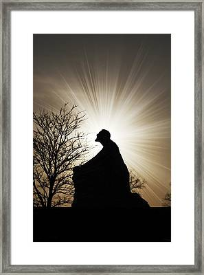 Jesus Is The Light Framed Print by Jeramie Curtice