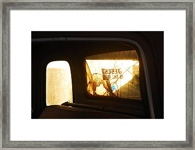 Jesus Is The Way Framed Print