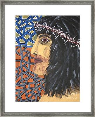 Framed Print featuring the painting Jesus by Jeffrey Koss