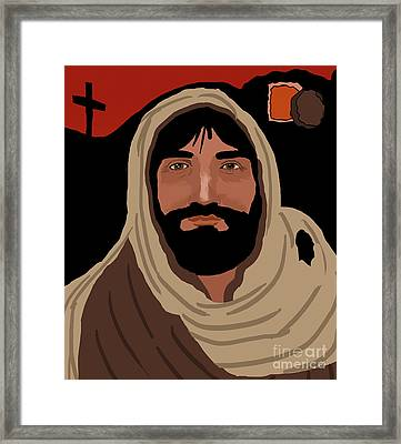 Jesus Framed Print by Kate Farrant