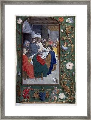 Jesus: Last Supper Framed Print by Granger
