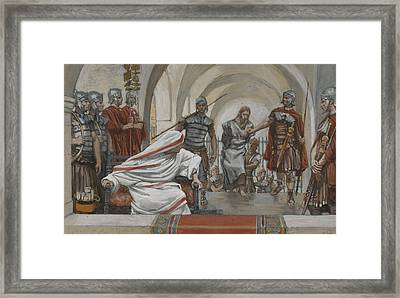 Jesus Led From Herod To Pilate Framed Print