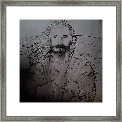 Jesus Light Of The World Full Framed Print