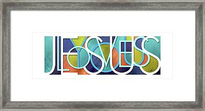 Jesus Loves You Framed Print by Shevon Johnson