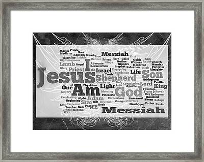 Jesus Messiah Framed Print by Angelina Vick