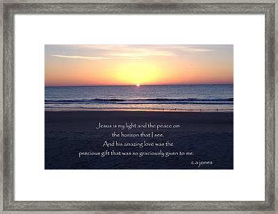 Jesus My Light Framed Print by Chris Jones