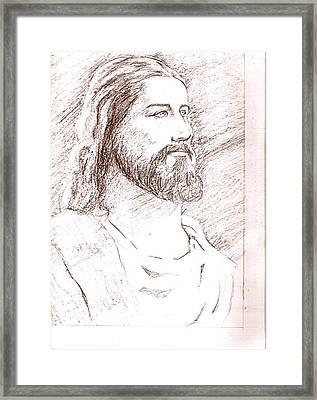 Jesus Framed Print by Nevis Jayakumar