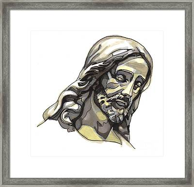 Jesus No 2 Framed Print by Edward Ruth