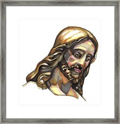 Jesus No 3 Framed Print by Edward Ruth