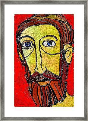 Jesus Of Nazareth Framed Print by Mimo Krouzian