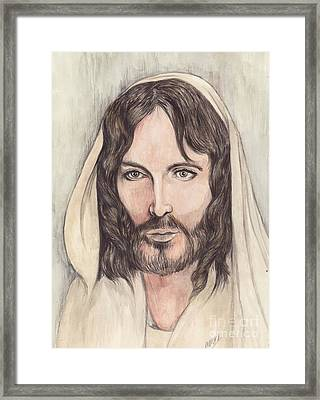 Jesus Of Nazereth Framed Print by Morgan Fitzsimons