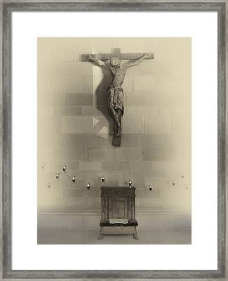 Jesus On The Cross Chapel Icon Framed Print by Daniel Hagerman