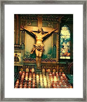 Jesus Paid It All Framed Print
