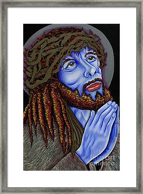 Jesus Peace Framed Print by Nannette Harris