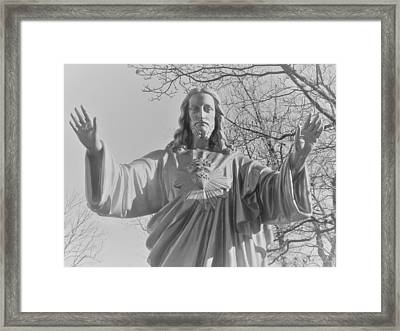 Jesus - Please Us. Immaculate Conception Cemetrey 2 Framed Print