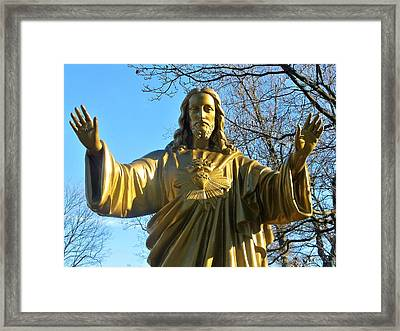 Jesus - Please Us. Immaculate Conception Cemetrey  Framed Print