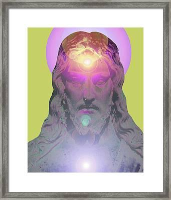Jesus Portrait No. 03 Framed Print by Ramon Labusch