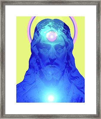 Jesus-portrait No. 04 Framed Print by Ramon Labusch