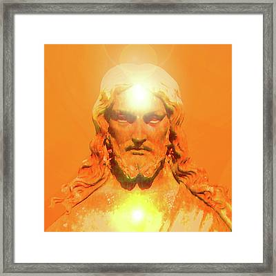 Jesus-portrait No. 06 Framed Print by Ramon Labusch