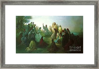 Jesus Preaching The Sermon Framed Print by MotionAge Designs