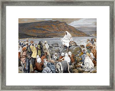 Jesus Preaching Framed Print by Tissot