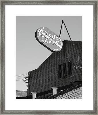 Jesus Saves Stockton Ca Framed Print by Troy Montemayor