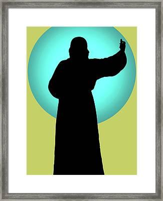 Jesus Shape No. 01 Framed Print by Ramon Labusch