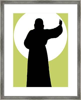 Jesus Shape No. 02 Framed Print by Ramon Labusch